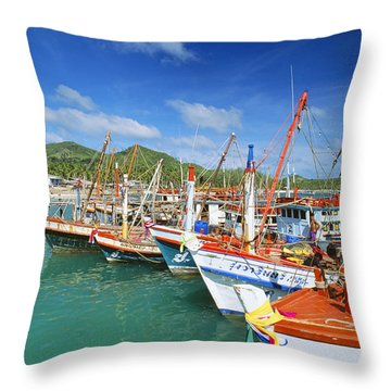 Thailand, Koh Phangan Throw Pillow by William Waterfall - Printscapes