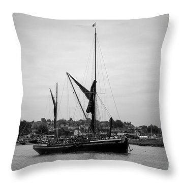 Thames Barge Throw Pillow