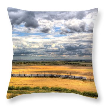 Thames Estuary View Throw Pillow