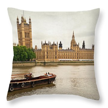 Thames Throw Pillow by Keith Armstrong