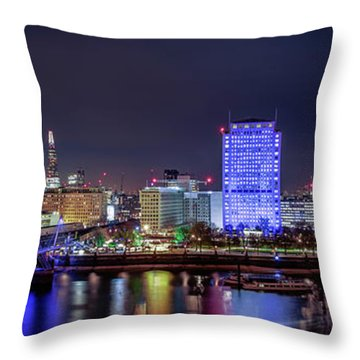 Thames Panorama Throw Pillow