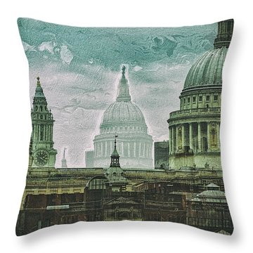 Thamesscape 2 -  Ghosts Of London Throw Pillow