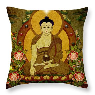 Thangka Painting Throw Pillow