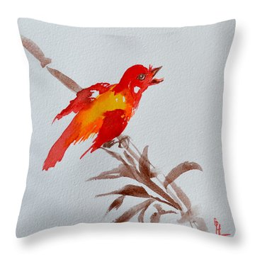 Thank You Bird Throw Pillow
