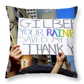 Thank You Gilbert Throw Pillow