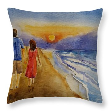 Thank You Love Throw Pillow by Geeta Biswas