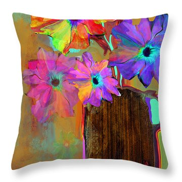 Thank You Flowers Throw Pillow