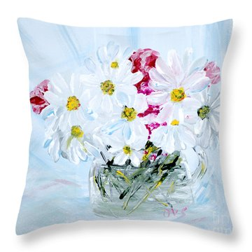 Thank You. Thank You - Je Vous Remerci Collection Of 2 Paintings Throw Pillow