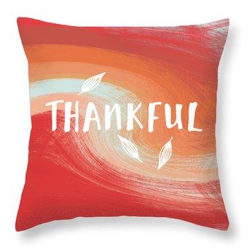 Thankful- Art By Linda Woods Throw Pillow