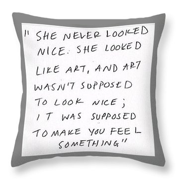 Art Is Not Perfection Throw Pillow