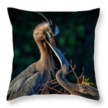 Thanks For Dinner, Mom Throw Pillow by Cyndy Doty