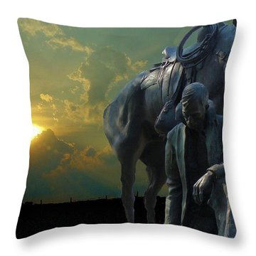 Thanks For The Rain  Throw Pillow by Janette Boyd