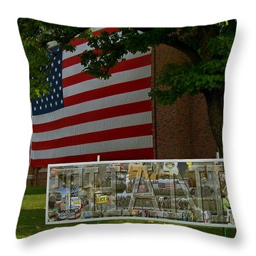 Thanks Tribute Throw Pillow by Julie Grace
