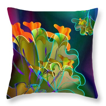 Thanksgiving Bouquet Throw Pillow by Iris Gelbart