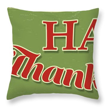 Throw Pillow featuring the painting Thanksgiving-c by Jean Plout