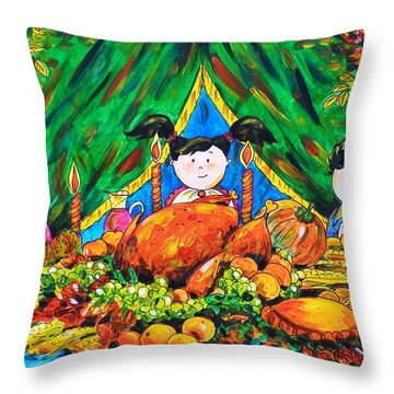 Thanksgiving Day Throw Pillow