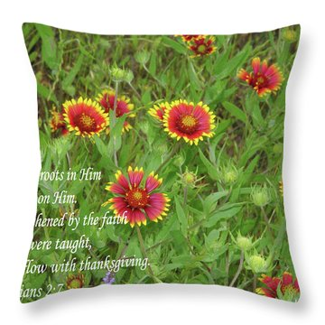 Thanksgiving Throw Pillow by Robyn Stacey