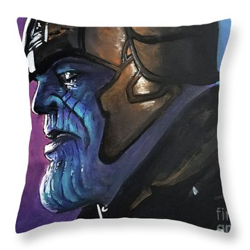 Thanos Throw Pillow by Tom Carlton