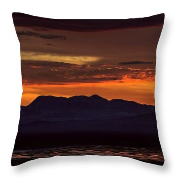 That Final Glimpse Into Abyss On The Brink Of Eruption Throw Pillow