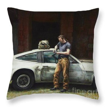 That Fleeting Moment Captured Throw Pillow by Yvonne Wright