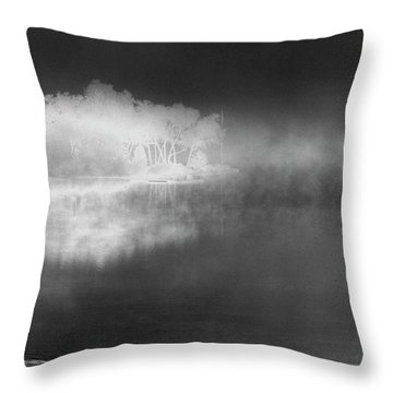 Throw Pillow featuring the photograph That Island There by Steven Huszar