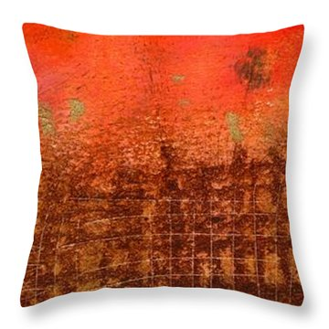 That Long Brown Fence Dividing You And Me Throw Pillow by Angela L Walker