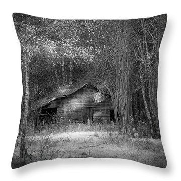 That Old Barn-bw Throw Pillow