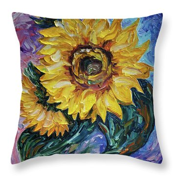That Sunflower From The Sunflower State Throw Pillow