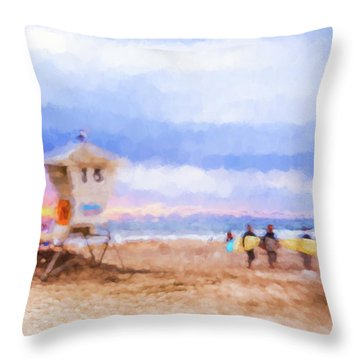 That Was Amazing Watercolor Throw Pillow