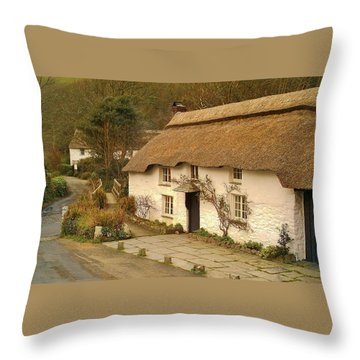 Thatched Cottage By Ford  Throw Pillow