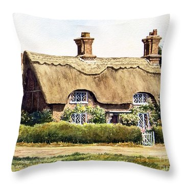 Thatched Cottage Osmaston Throw Pillow