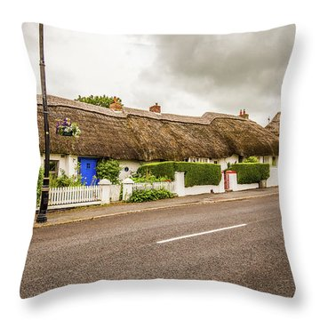 Thatched Cottages Throw Pillow