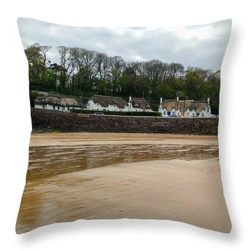 Thatched Cottages In Dunmore East Ireland  Throw Pillow