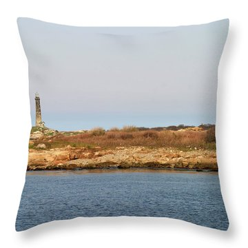 Thatcher Island Twin Lights Gloucester Massachusetts Throw Pillow