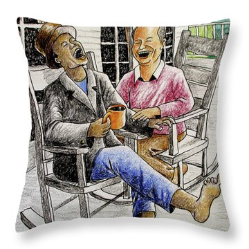 That's Why God Made Rocking Chairs Throw Pillow