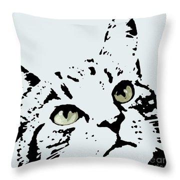 Thats Willie Pet Portrait Throw Pillow