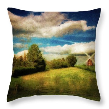 Thaxted With Millpond Throw Pillow