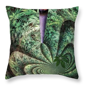 Thc Trip Clip Throw Pillow