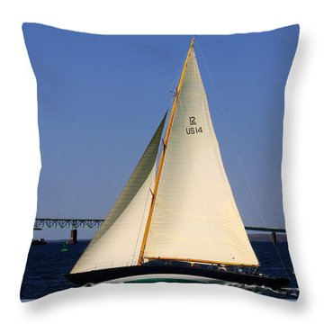 The 12 Meter Newport Throw Pillow
