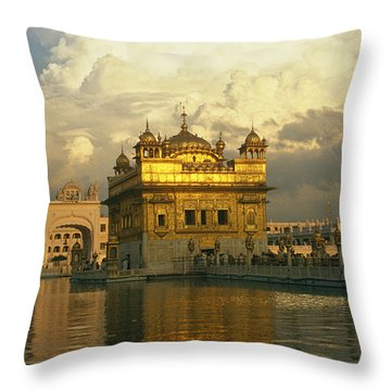 The 16-th Century Golden Temple Throw Pillow