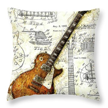 The 1955 Les Paul Custom Throw Pillow