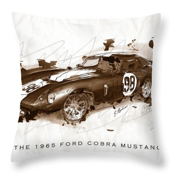 The 1965 Ford Cobra Mustang Throw Pillow