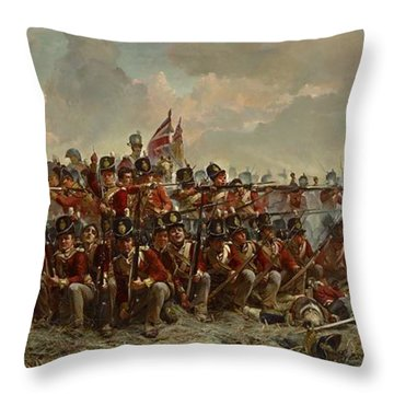 The 28th Regiment At Quatre Bras Throw Pillow