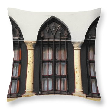 The 3 Windows Throw Pillow