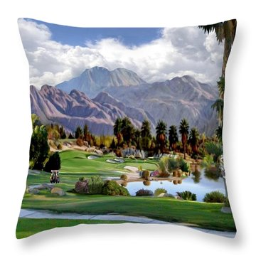The 5th At Woodhaven Throw Pillow