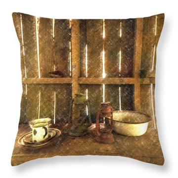 The Abandoned Cabin Throw Pillow