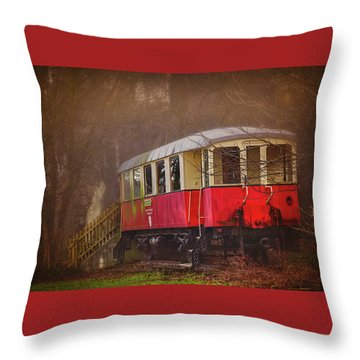 Throw Pillow featuring the photograph The Abandoned Tram In Salzburg Austria  by Carol Japp