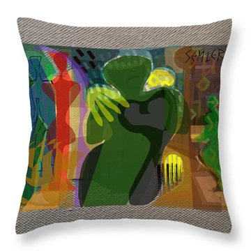 Throw Pillow featuring the digital art The Abbey by Clyde Semler