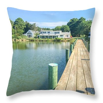 The Abbey On Cooper Point Throw Pillow