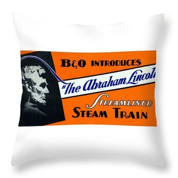 The Abraham Lincoln Throw Pillow